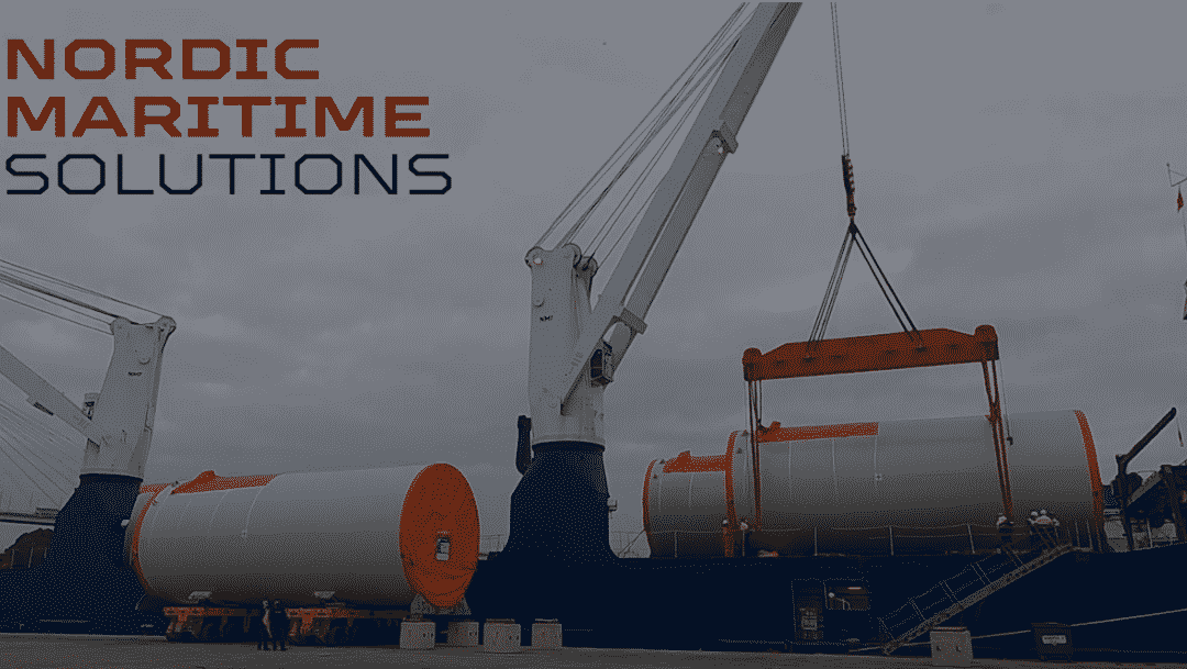 Load out tower sections St. Nazaire Offshore Wind project